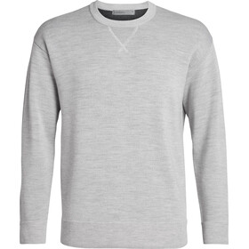 Icebreaker Carrigan Reversible Pull Mérinos Homme, steel heather